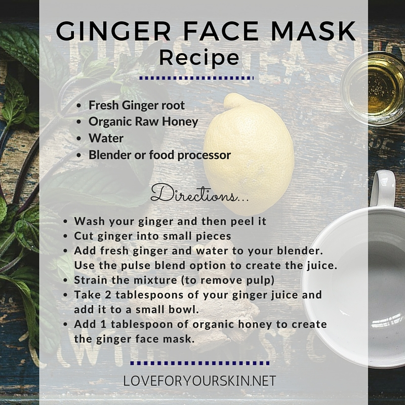 Ginger Face Mask Recipe